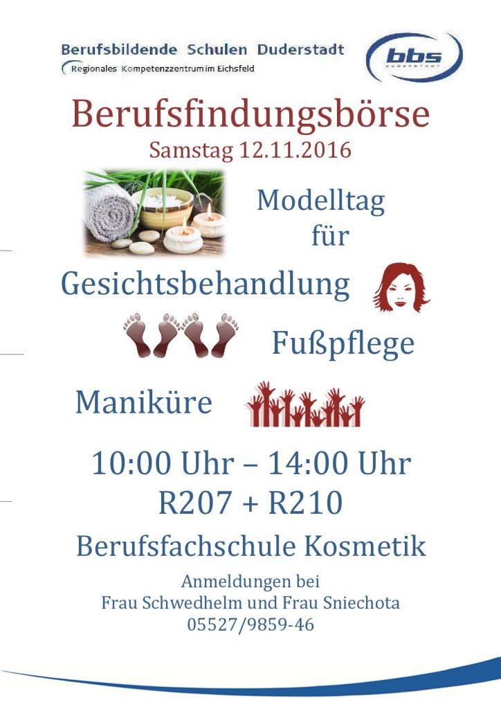 Modelltag Berufsfindungsbörse